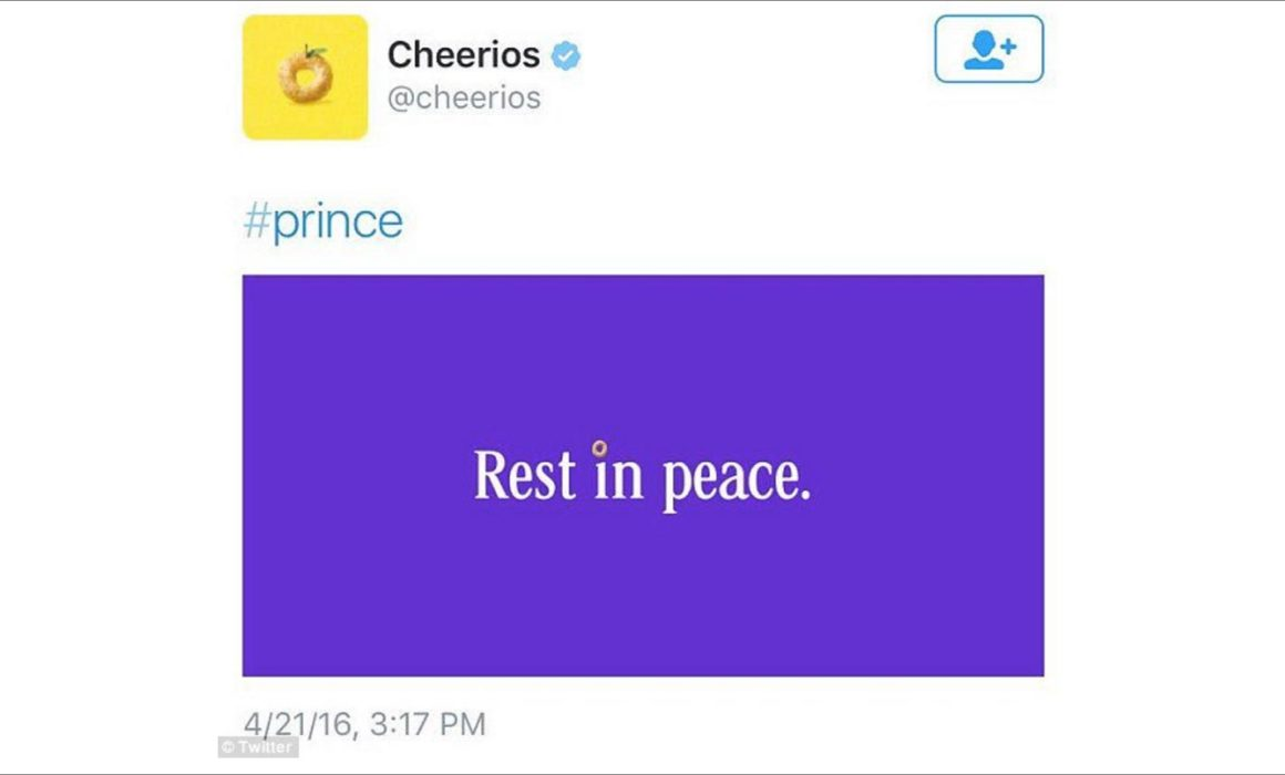 Cheerios tweet